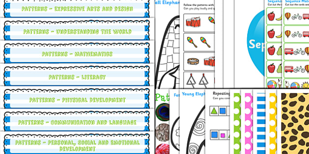 Patterns Lesson Plan and Enhancement Ideas EYFS - patterns, lesson plans, EYFS