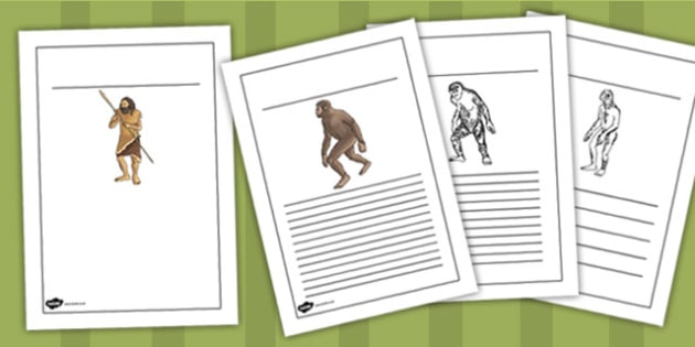 Human Evolution Writing Frames - human, evolution, writing, frame