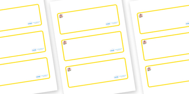 Lily Themed Editable Drawer-Peg-Name Labels (Blank) - Themed Classroom Label Templates, Resource Labels, Name Labels, Editable Labels, Drawer Labels, Coat Peg Labels, Peg Label, KS1 Labels, Foundation Labels, Foundation Stage Labels, Teaching Labels