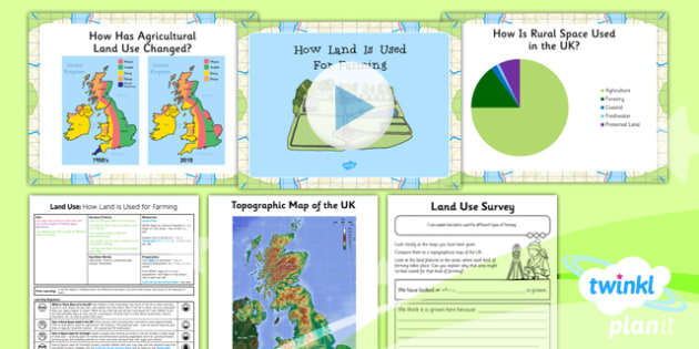 PlanIt - Geography Year 3 - Land Use Lesson 6: How Land Is Used for Farming Lesson Pack