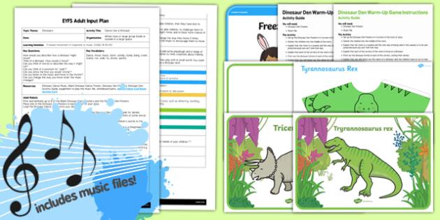 EYFS Dance Like a Dinosaur Adult Input Plan and Resource Pack