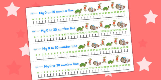 The Tortoise and The Hare Number Lines 0 30 - counting aid, maths