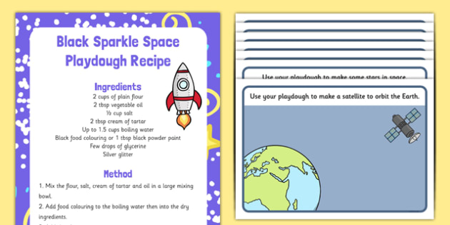 Space Playdough Recipe and Mat Pack - EYFS, early years, malleable, fine motor skills, physical development, PD