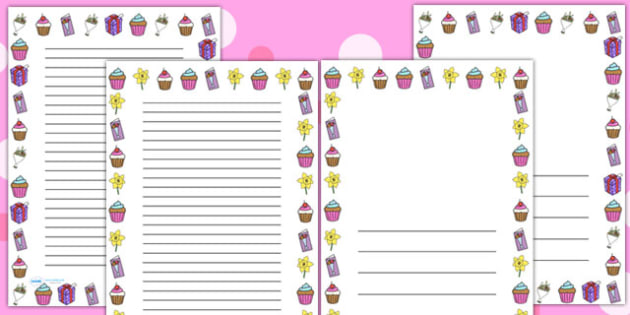 Australia Mother's Day Page Borders
