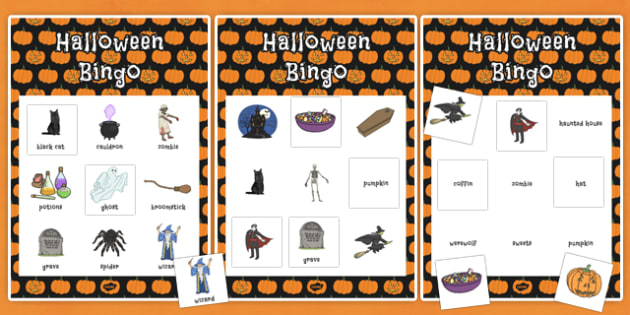 Halloween Themed Bingo and Themed Lotto Activity Pack -  halloween, october, display, information, spooky, activity, fun, activities, numbers, words