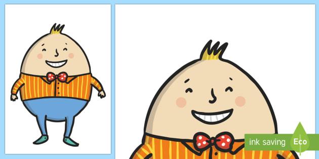 Humpty Dumpty Cut Out - humpty dumpty, rhyme, story, poem, poetry