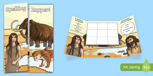 Stone Age Themed Blank Spelling Zapper - spelling zapper, spell, spelling, zapper, dyslexic, dyslexia, learn, tricky words, personalise, words, blank, stone age