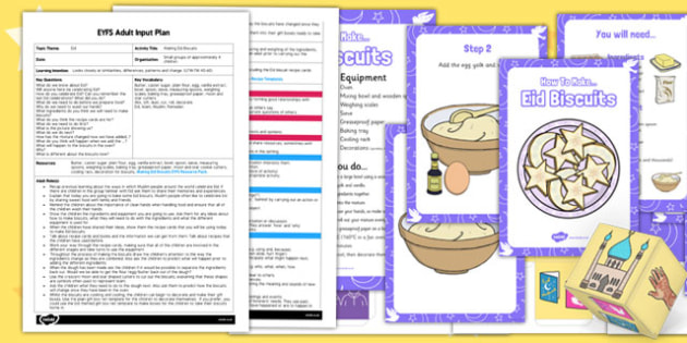 Making Eid Biscuits EYFS Adult Input Plan and Resource Pack - eyfs