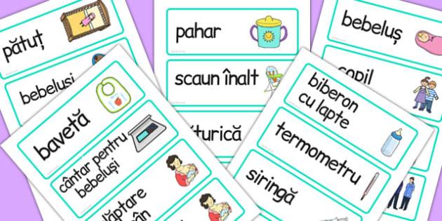 La doctor - Cartonașe cu imagini și cuvinte