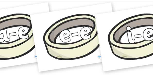Modifying E Letters on Silver Rings - Modifying E, letters, modify, Phase 5, Phase five, alternative spellings for phonemes, DfES letters and Sounds