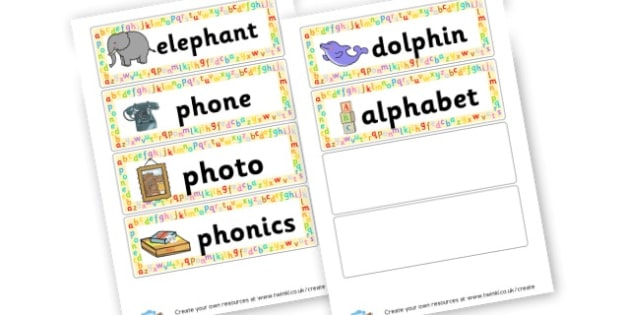 ph owrd cards - display lettering - Phase 5 Visual aids Primary Resources, Phase One, Letters, sounds