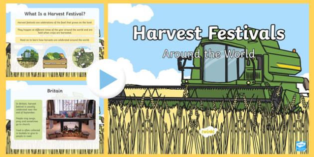 Harvest Festivals Around The World PowerPoint - powerpoint, information powerpoint, harvest festivals around the world, harvest festivals, harvet