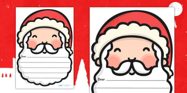 Writing Letters to Santa Templates - santa, christmas, letters