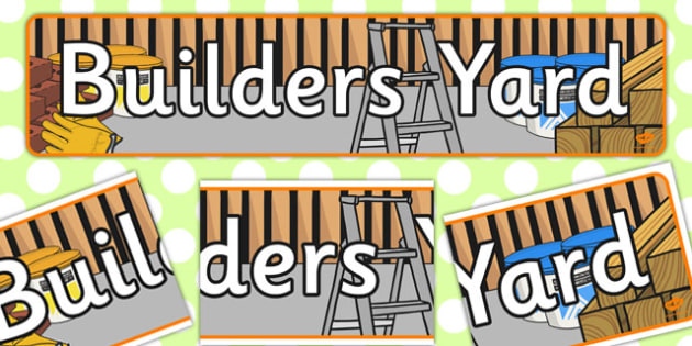 Builders Yard Role Play Banner - role-play, banner, display