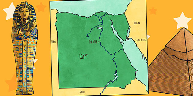 Map of Ancient Egypt Cut Out - ancient egypt, map, cut out