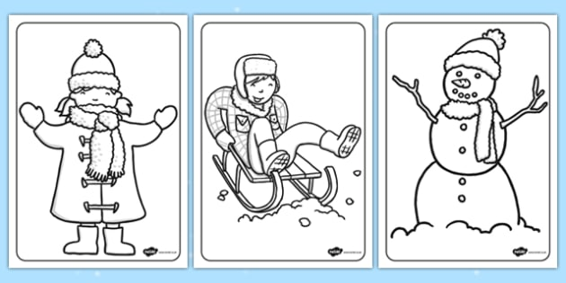 twinkl winter coloring pages - photo#4