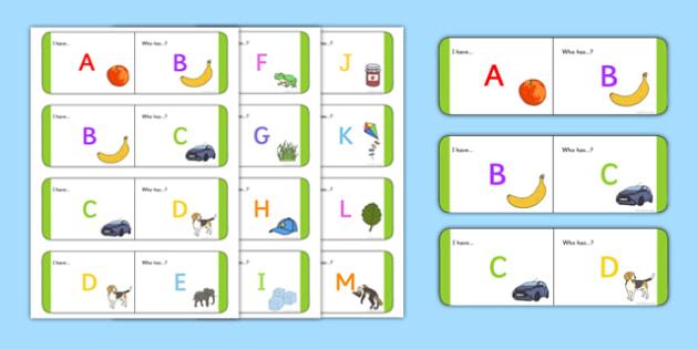 Alphabet Loop Cards - alphabet loop cards, loop, cards, alphabet