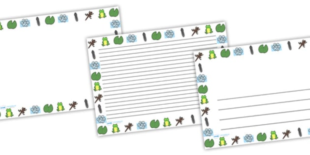 Frog Life Cycle Page Full Page Borders (Landscape) - life cycle, frog life cycle, frogs, frog, frog page borders, frog life cycle page borders, frog life cycle page border