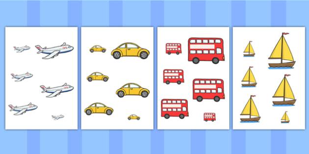 Transport Size Ordering - transport, size, shape, ordering, order