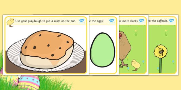 Easter Playdough Mats - mat, activity, playdough, play-doh, play doh, playdoh, easter, easter activity, easter playdoh mat, activity mat, activity, fun, playdough activity mat, themed mat