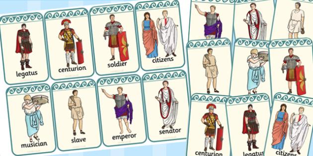 Roman People Flashcards - flashcards, cards, roman, people