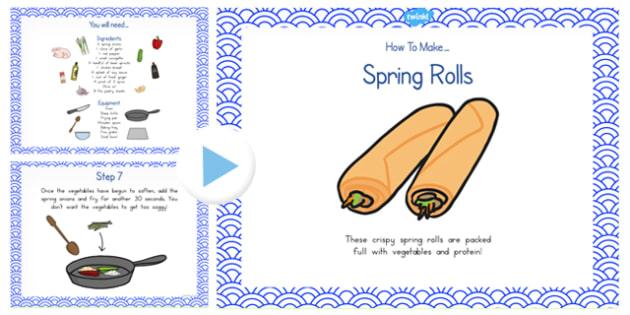 Crispy Spring Rolls Recipe PowerPoint - australia, recipe, roll