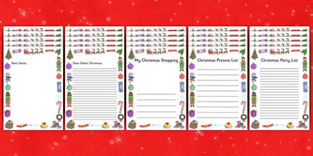 Christmas Role Play Page Borders - Christmas, xmas, Role Play, page border, tree, advent, nativity, santa, father christmas, Jesus, tree, stocking, present, activity, cracker, angel, snowman, advent , bauble,  a4 border, template, writing aid, writin
