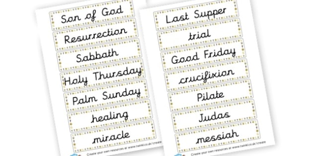 Son of God Word Cards - Christianity, Literacy,  Primary Resources, religion, faith, chri