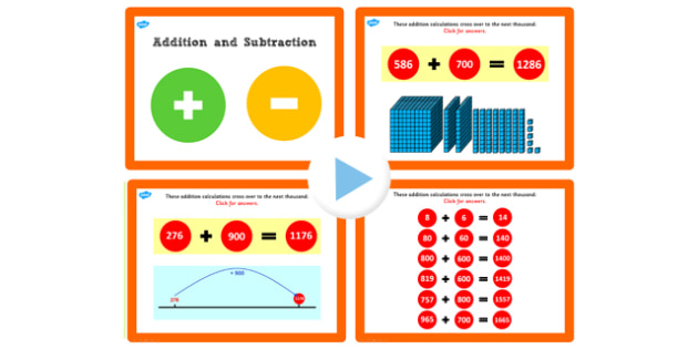 Y3 Addition Subtraction Lesson 1f Adding Hundreds Crossing 1000