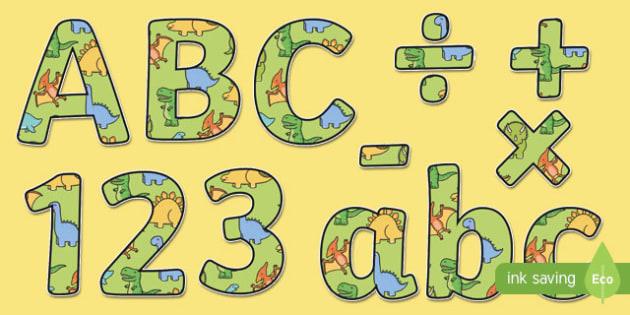 Cute Dinosaur Themed Display Lettering - dinosaur, lettering