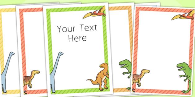 Dinosaur Themed Birthday Party Editable Poster - birthday, poster