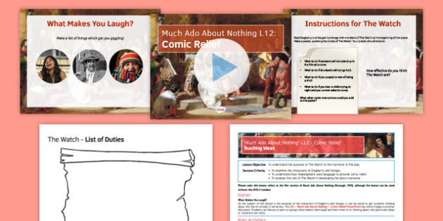 Much Ado About Nothing Lesson Pack 12: Comic Relief - much ado about nothing, lesson pack, lesson, pack