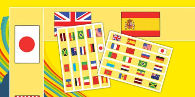 Olympic Themed Display Borders - usa, america, olympics, display borders, rio olympics, 2016 olympics, rio 2016