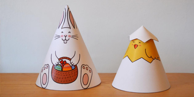 Easter Cone Animals - easter, animals, crafts, art, design, cone