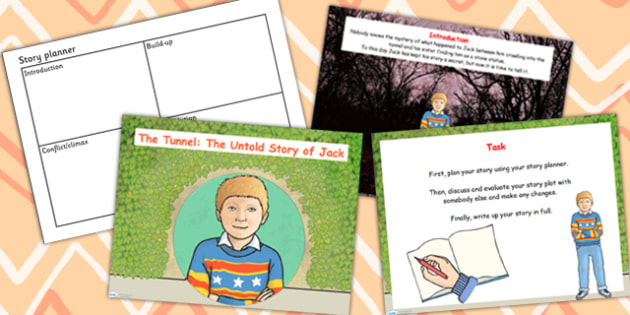 Untold Story of Jack Differentiated Lesson Teaching Pack (Flipchart) to Support Teaching on The Tunnel by Anthony Browne