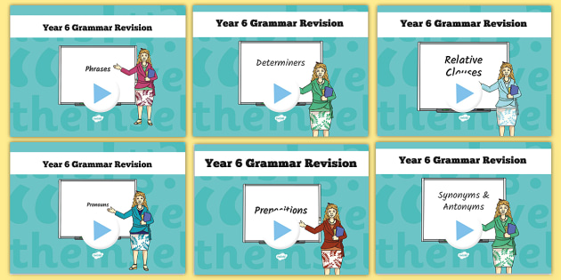 Year 6 Grammar Revision Guide and Quick Quiz Bumper Pack- y6, year 6, booster, SAT revision, SAT tests, active voice, passive voice, quiz,