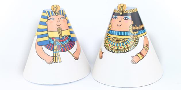 Egyptian Cone People - australia, egyptian, cone, people, craft