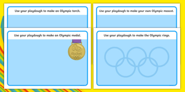 The Olympics Playdough Mats - Olympics, Olympic Games, sports, Olympic, London, 2012, mat, activity, playdough, Olympic torch, flag, countries, medal, Olympic Rings, mascots, flame, compete, tennis, athlete, swimming, race,