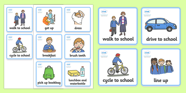 Daily Routine Cards (Getting Ready For School - Boys) - getting ready for school, Visual Timetable, SEN, Daily Timetable, School Day, Daily Activities, Daily Routine KS1