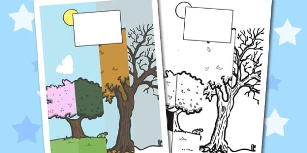 Season Themed Calendar Template - season, calendar, template