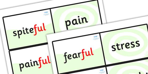 Suffix Loop Cards ful - suffix loop cards, suffixes, suffix, suffix ful, ful, words ending in ful, suffix activities, ks2 literacy, ks2 english, ks2