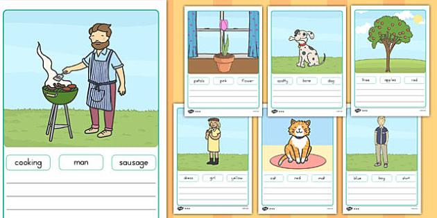 Simple Sentence Worksheets - australia, dyslexic, writing, SEN,