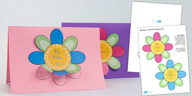Mothers Day Flap Flower Card Craft - mothers, day, flap ...