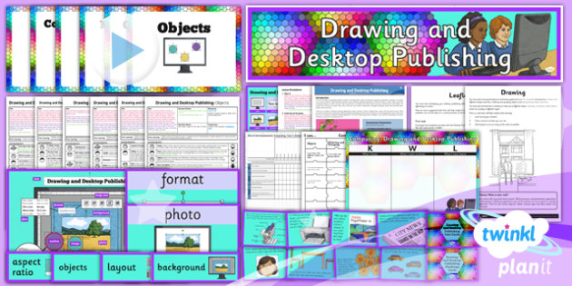 PlanIt - Computing Year 3 - Drawing and Desktop Publishing Unit Pack - planit, computing, year 3, drawing and desktop publishing, unit pack