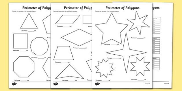 Printables Perimeter Of Polygons Worksheet perimeter of polygons worksheets worksheets