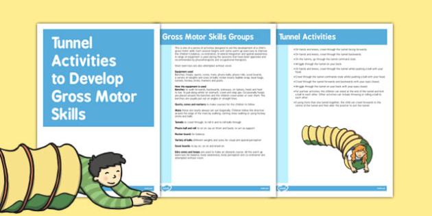 Tunnel Gross Motor Skills Activities - Motor, Skills, Tunnel