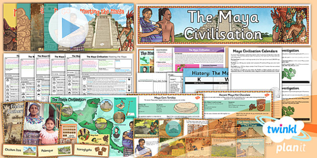 PlanIt - History UKS2 - The Maya Civilisation Unit Pack - planit