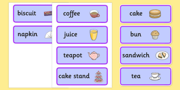 Royal Afternoon Tea Role Play Labels - royal, afternoon tea, afternoon, tea, role play, labels