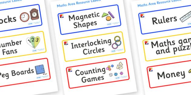 Mondrian Themed Editable Maths Area Resource Labels - Themed maths resource labels, maths area resources, Label template, Resource Label, Name Labels, Editable Labels, Drawer Labels, KS1 Labels, Foundation Labels, Foundation Stage Labels, Teaching La