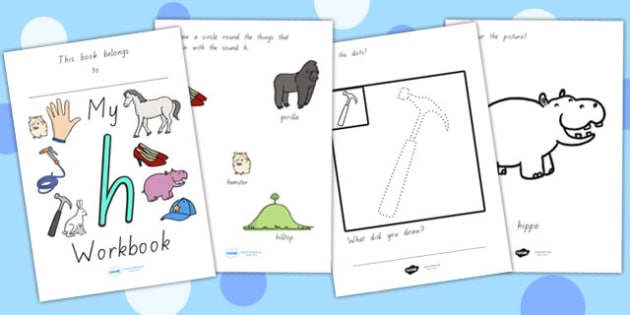 My Workbook H Lowercase - letter formation, writing, tracing